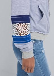 Detail  view Crochet Trim Lounge Jacket