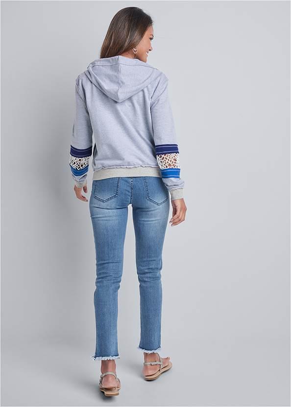 Back View Crochet Trim Lounge Jacket