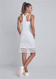 Full back view Crochet Overall Lounge Dress
