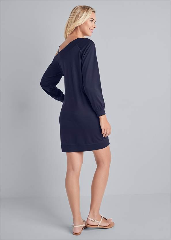 Back View Jewel Link Strap Lounge Dress