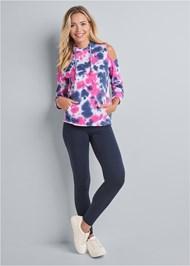 Alternate View Tie Dye Cold Shoulder Sweatshirt