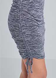 Detail  view Cozy Drawstring Tie Lounge Dress