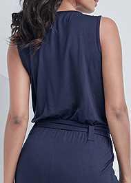 Alternate View Tie Front Jumpsuit