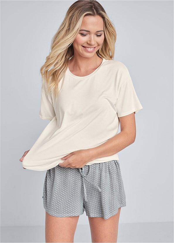 Sleep T-Shirt,Sleep Shorts,Palazzo Sleep Pant