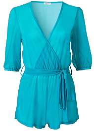 Alternate View Sports Illustrated Swim™ Wrap Romper Cover-Up