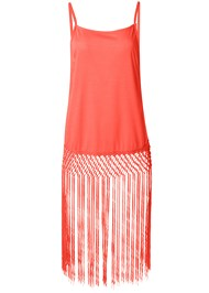 Ghost with background  view Fringe Tunic Cover-Up