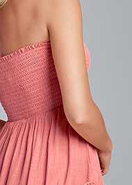 Detail back view Tiered Smocked Maxi Dress