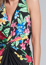 Alternate View Twist Front Floral Maxi Dress