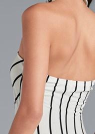 Alternate View Collared Stripe Maxi Dress