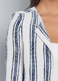 Alternate View Striped Tweed Pants Set