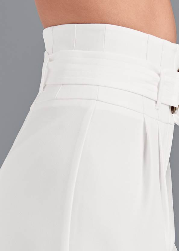 Alternate View Belted High Waist Culotte Length Pants
