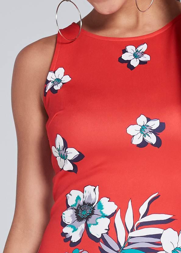 Detail  view Floral Bodycon Dress