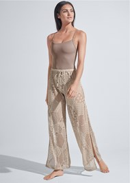Front View Sports Illustrated Swim™ Crochet Beach Pants