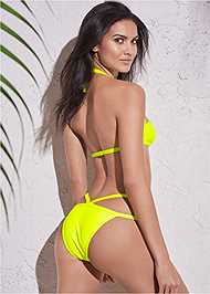 Full back view Sports Illustrated Swim™ Strappy Banded Bottom