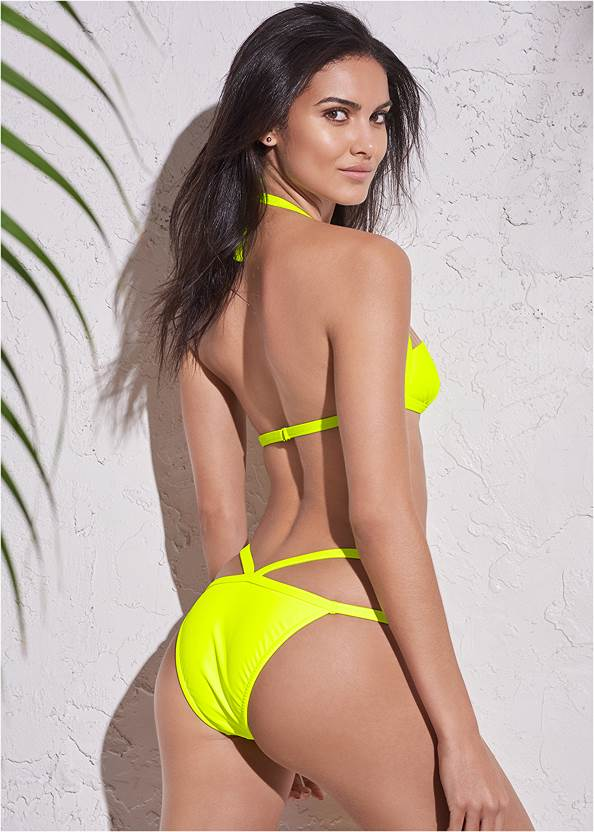Full back view Sports Illustrated Swim™ Mesh Panel Triangle Top