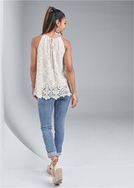 Back View Lace Sleeveless Top