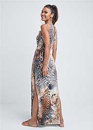 Full back view Chain Strap Maxi Dress