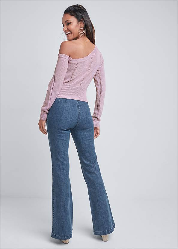 Back View One Shoulder Sweater