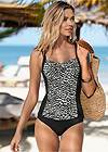Cropped Front View Slimming One-Piece