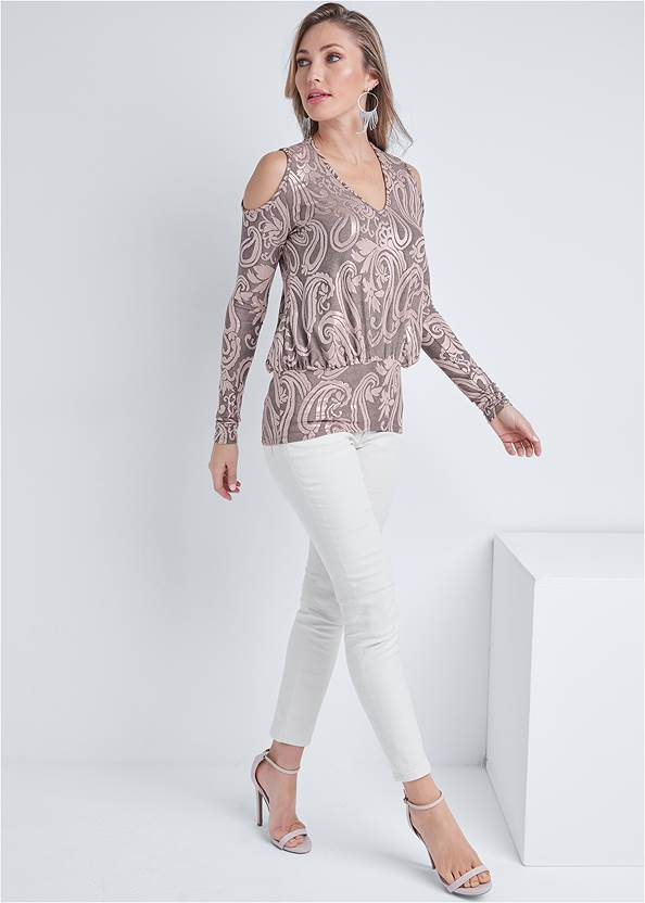 Alternate View Shimmer Paisley Top