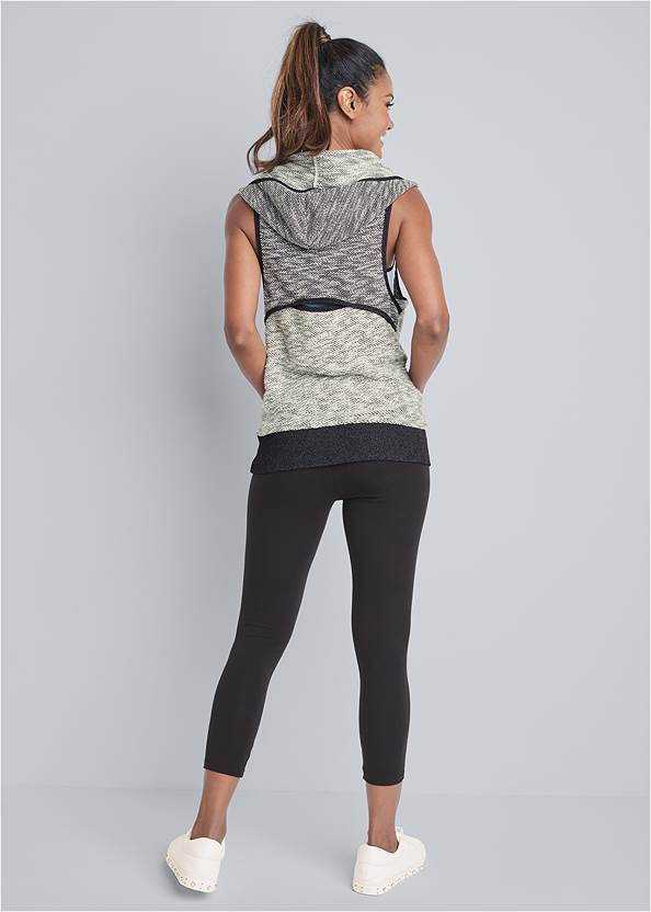 Back View Sleeveless Cowl Neck Lounge Pullover Top