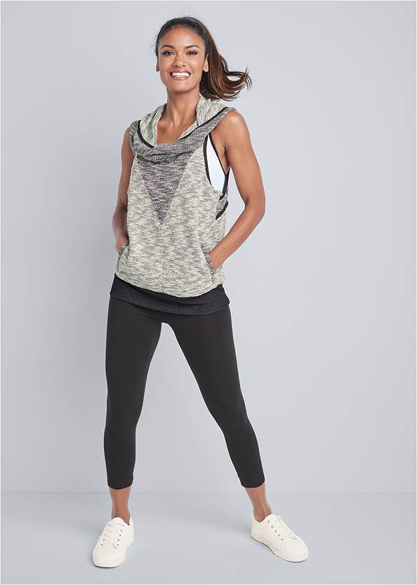 Alternate View Sleeveless Cowl Neck Lounge Pullover Top