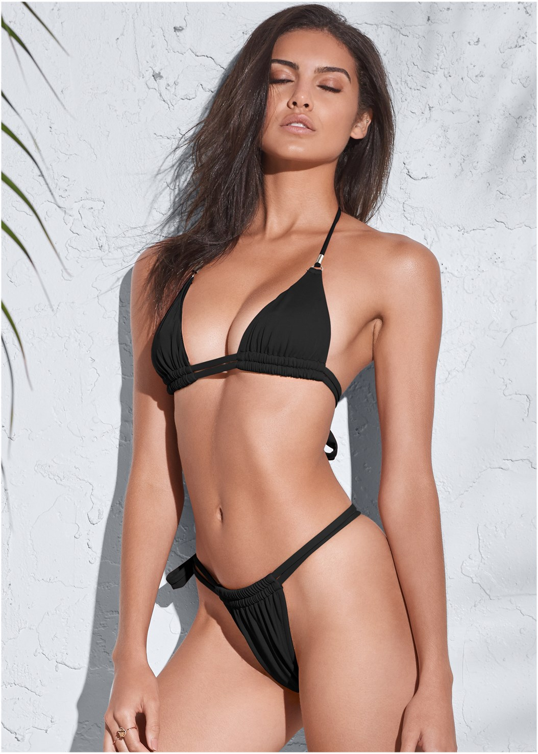 Sports Illustrated Swim™ Double Strap Triangle,Sports Illustrated Swim™ Adjustable Coverage Bottom,Sports Illustrated Swim™ Tie Side String Bottom,Sports Illustrated Swim™ Cut Out Sides Bottom,Sports Illustrated Swim™ Strappy Banded Bottom