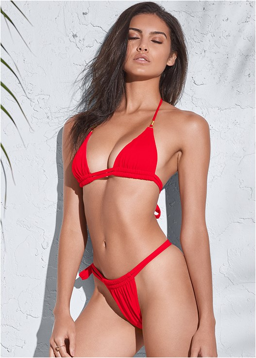 SPORTS ILLUSTRATED SWIM™ DOUBLE STRAP TRIANGLE,SPORTS ILLUSTRATED SWIM™ ADJUSTABLE COVERAGE BOTTOM,SPORTS ILLUSTRATED SWIM™ TIE SIDE STRING BOTTOM,SPORTS ILLUSTRATED SWIM™ HIGH WAIST BOTTOM,SPORTS ILLUSTRATED SWIM™ MICRO ADJUSTABLE BOTTOM