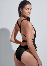 Back View Sports Illustrated Swim™ Brazilian Wrap One-Piece