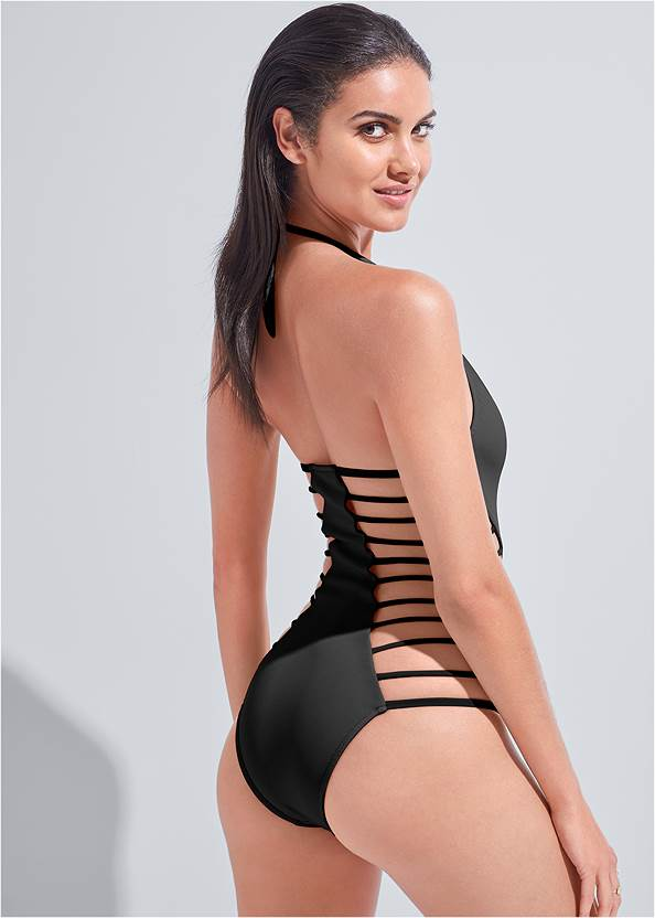 Cropped back view Sports Illustrated Swim™ Strappy One-Piece