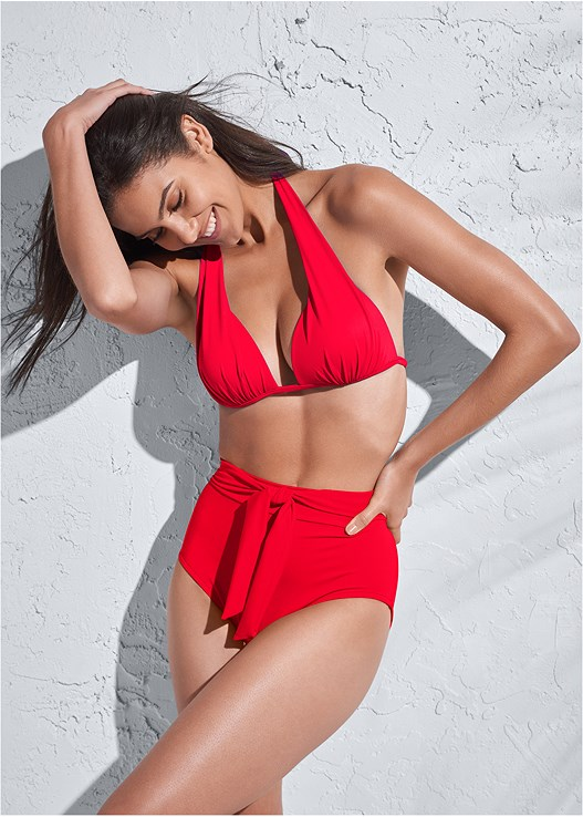 SPORTS ILLUSTRATED SWIM™ HIGH WAIST BOTTOM,SPORTS ILLUSTRATED SWIM™ PUSH UP HALTER TOP,SPORTS ILLUSTRATED SWIM™ SPIDER WEB TRIANGLE TOP,SPORTS ILLUSTRATED SWIM™ DOUBLE STRAP TRIANGLE,SPORTS ILLUSTRATED SWIM™ PARTY IN THE BACK SPORT TOP