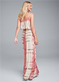 Full back view Overlay Tie Dye Maxi Dress