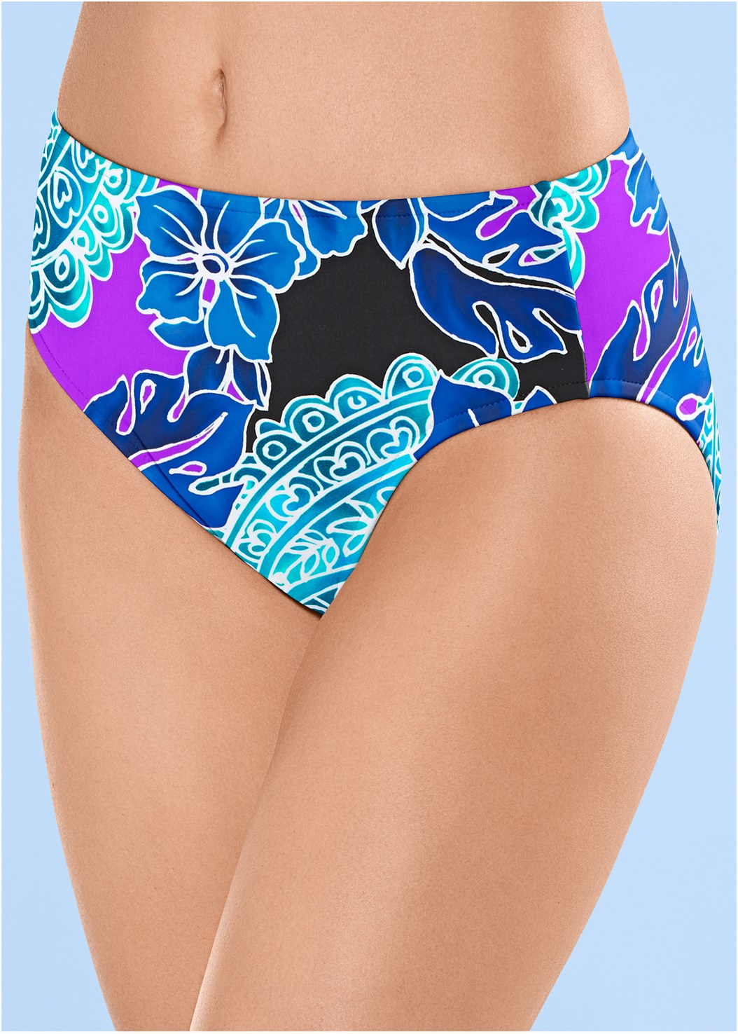 Full Coverage Mid Rise Hipster Bikini Bottom,Blouson Bandeau Bikini Top,Mid Rise Hipster Classic Bikini Bottom,Underwire Halter Bikini Top