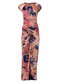 Alternate View Ruched Tie Dye Maxi Dress