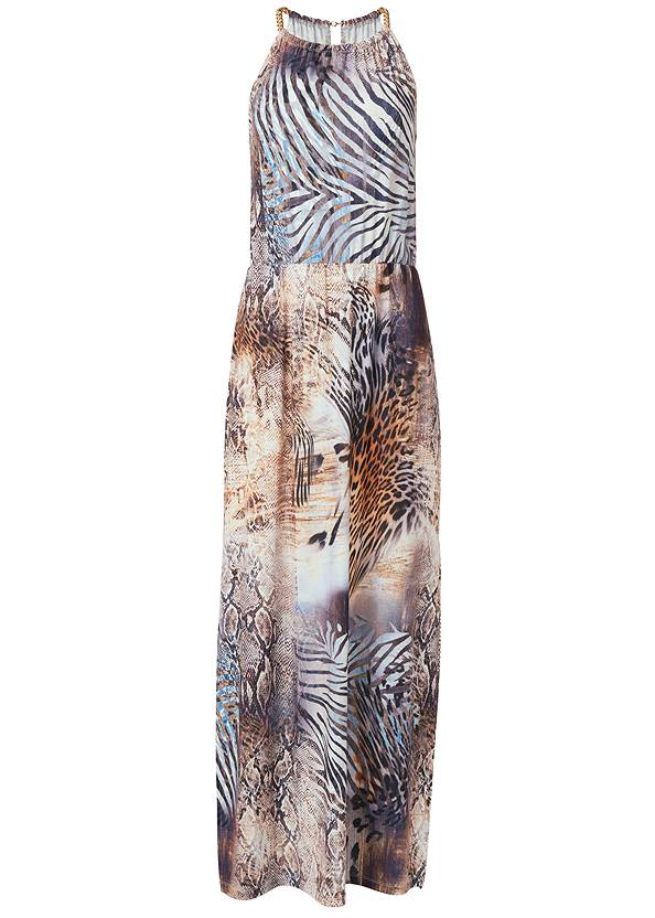 Ghost with background  view Chain Strap Maxi Dress