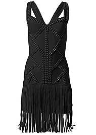 Ghost with background  view Fringe Bandage Dress