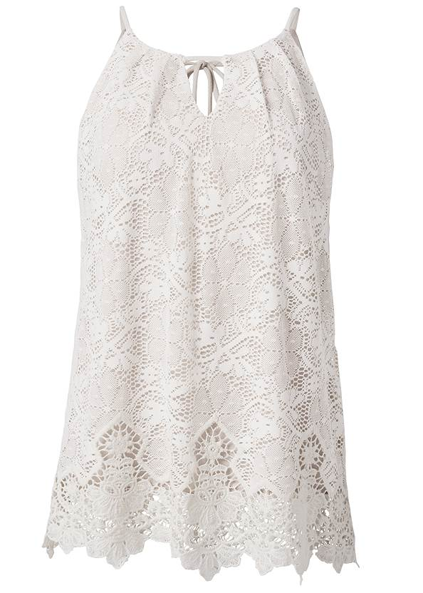 Ghost with background  view Lace Sleeveless Top