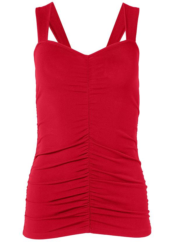 Ghost with background  view Ruched Sleeveless Top