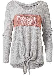 Ghost with background  view Cozy Sequin Stripe Lounge Top