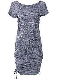 Ghost with background  view Cozy Drawstring Tie Lounge Dress