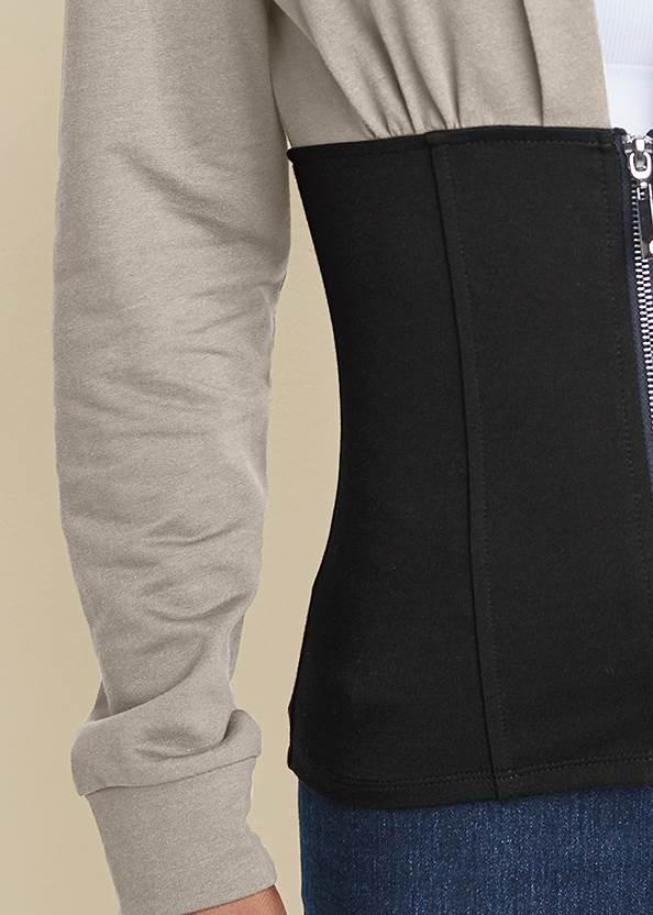 Alternate View Two Tone Zip Front Sweatshirt