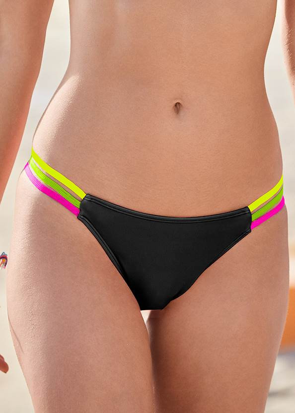 Detail front view Neon Banded Low Rise Bottom