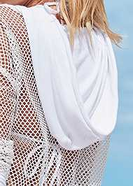 Detail back view Hoodie Cover-Up