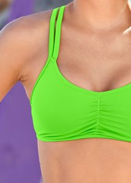 Detail front view Ballet Swim Top