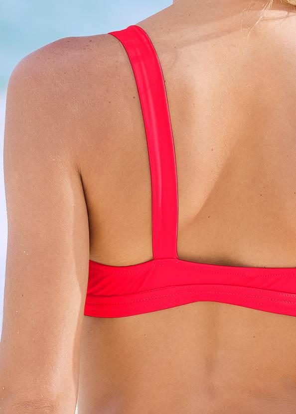 Detail back view Retro Ring Bralette Top