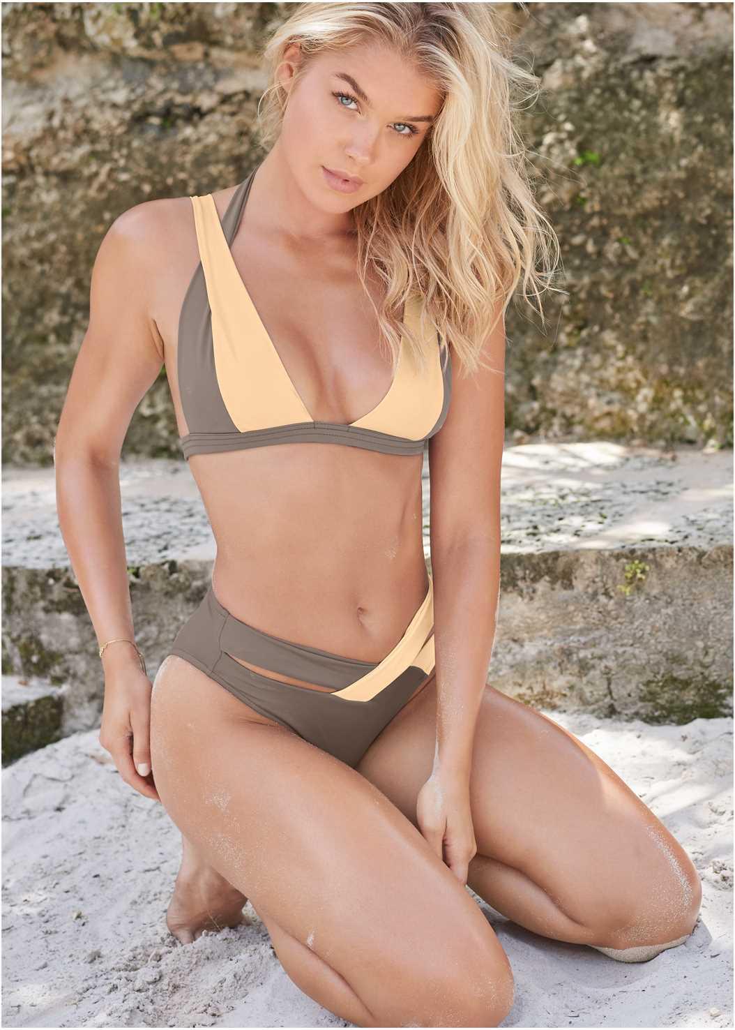 Sports Illustrated Swim™ Brazilian Bralette Top,Sports Illustrated Swim™ Brazilian Crisscross Bottom
