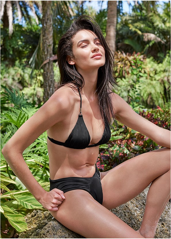 Sports Illustrated Swim™ Double Strap Triangle,Sports Illustrated Swim™ High Leg Ruched Bottom,Sports Illustrated Swim™ Cut Out Sides Bottom,Sports Illustrated Swim™ Cheeky Short,Sports Illustrated Swim™ Strappy Banded Bottom,Sports Illustrated Swim™ Onion Skin Tie Cover-Up