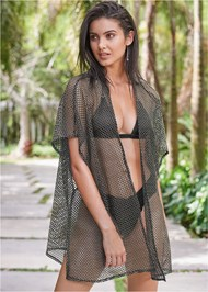 Full front view Sports Illustrated Swim™ Beach Kimono Cover-Up