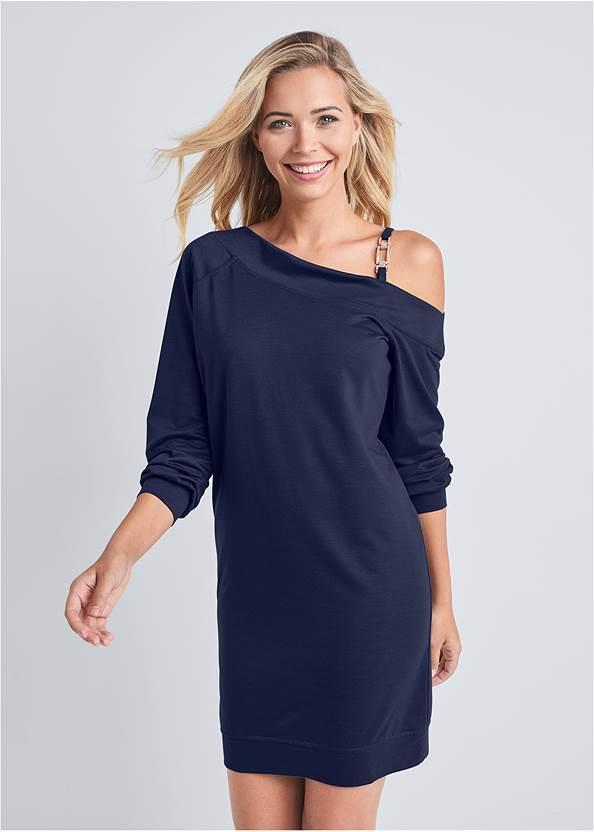 Jewel Link Strap Lounge Dress,Wrap Around Wedges,Python Clutch