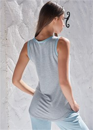 Back View Front Pocket Sleep Tank